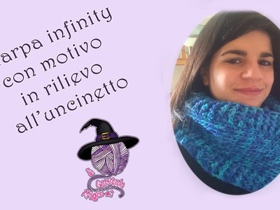 Sciarpa infinity con motivo in rilievo - Infinity scarf with relief pattern