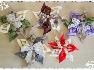 Stelle natalizie in pannolenci senza cucire