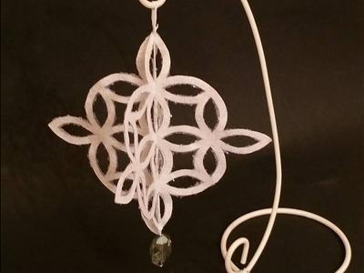 Decorazione Natalizia  fiocco di neve 3D, 3D Snowflakes Christmas  Tutorial
