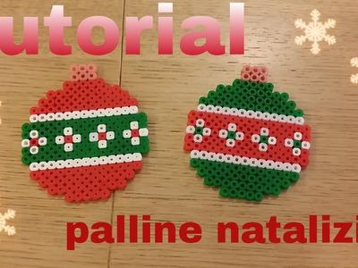 Tutorial addobbo palline di Natale con le pyssla +