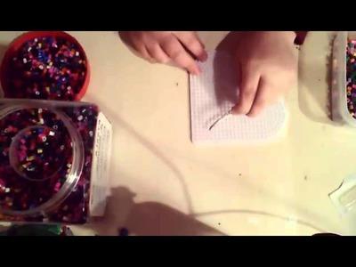 Tutorial Natalizio Pyssla= Candy Segnalibro
