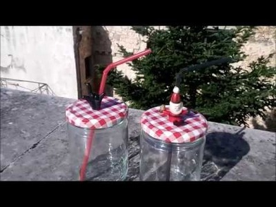 DIY Natalizio - Barattolo con Cannuccia Fai da te ( DIY Christmas - Jar with Straw) | Vis!oni Sonore