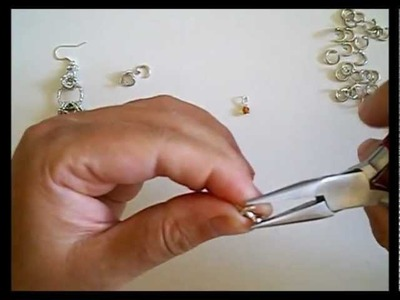 Chainmail orecchini a forma rettangolare