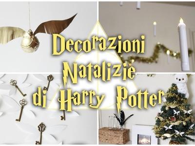 DECORAZIONI NATALIZIE DI HARRY POTTER ⚡️BOCCINO D'ORO | CHIAVI VOLANTI | CANDELE GALLEGGIANTI