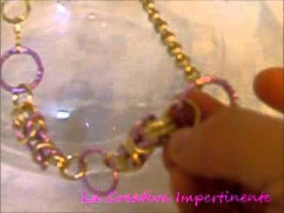 Una Idea e mia Creazione - Collana Chainmaille con spezzoni di bizantina | byzantine necklace
