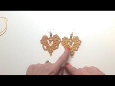 Lezione 7 orecchini chiacchierino con archi punto spirale, forma cuore 1* parte ROSAANTICO