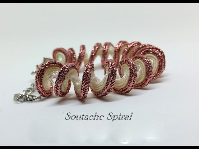 Spirale soutache tutorial - braccialetto bangle DIY