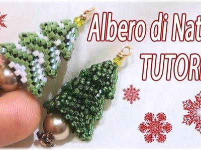 Tutorial Albero di Natale con perline - Fai da te con perline - Albero natalizio Delica
