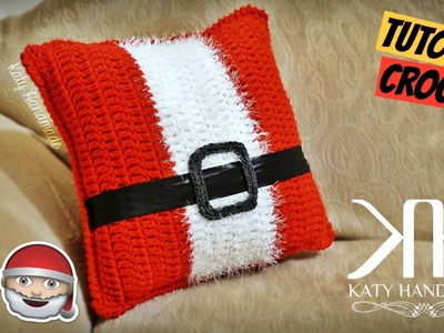 "[DECORAZIONI] Tutorial cuscino ""Babbo Natale"" uncinetto 