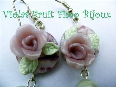 Creazioni orecchini anelli by Violas Fruit Fimo Bijoux