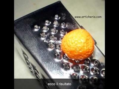 Tutorial orecchini arancia in fimo