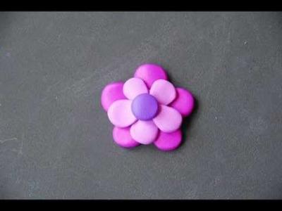 Tutorial : orecchini in fimo con fiore
