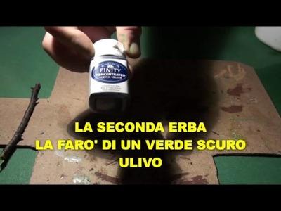 COME CREARE L'ERBA CON LA SEGATURA PER MODELLISMO