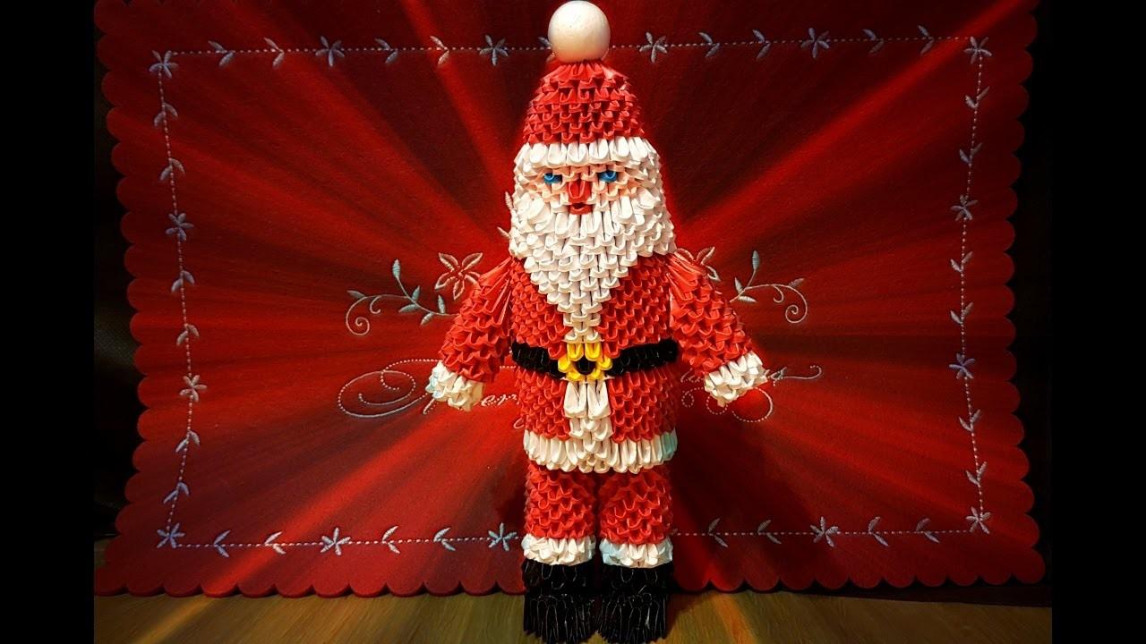 Origami 3D Santa Claus tutorial ITA
