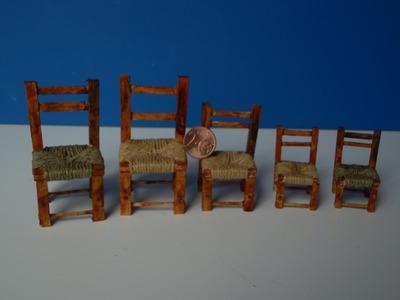 TUTORIAL: come costruire le sedie per un presepe