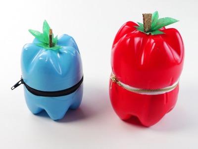 Come fare astucci a forma di frutta con bottiglie di plastica