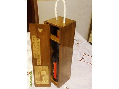 How it's made- Beautiful wooden box wine bottle-Cofanetto porta bottiglia