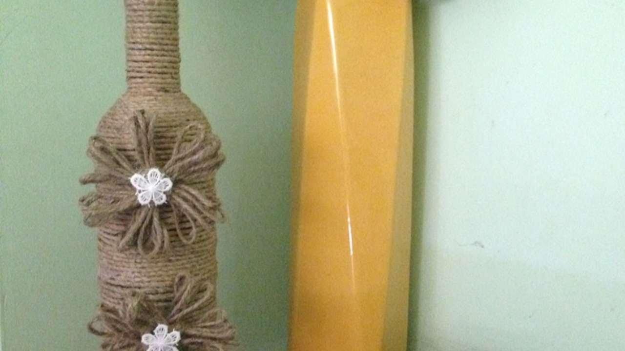 Realizza delle adorabili bottiglie decorate con lo spago - Fai da Te Casa - Guidecentral