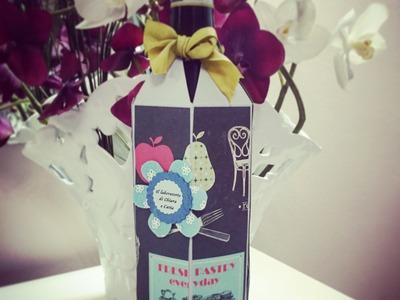 Scrapbooking Tutorial: Decorare bottiglia di vino!
