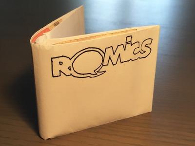 Come creare un portafoglio di carta personalizzato  -  How to make a paper wallet