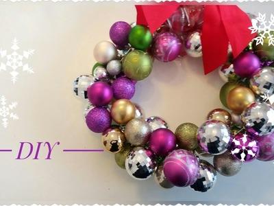 Ghirlanda Nataliza Facile con palline di Natale ☆ Xmas Balls Wreath |Serena GingerBread ☆