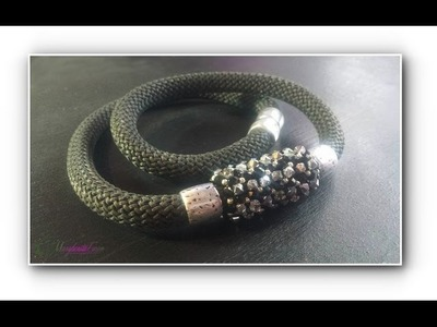 Come fare un girocollo rock con la climbing cord .Collaborazione Perlinebijoux