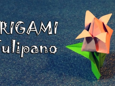 Origami, tulipano di primavera di carta, idea festa della donna, DIY - how to make a tulip flower