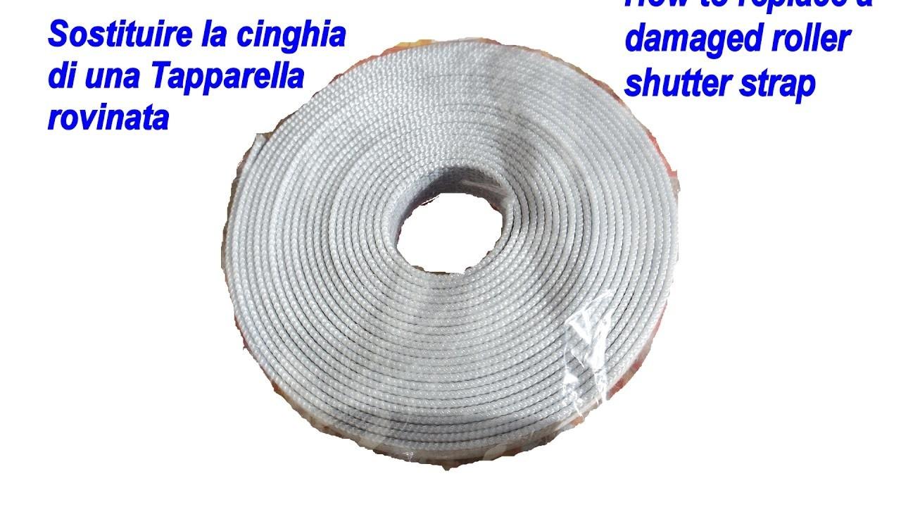 Tutorial Sostituzione cinghia tapparella fai da te(How to DIY replace roller shutter strap)