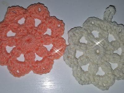 DIY tutorial decorazione - Fiore grande facile all'uncinetto - easy crochet flower