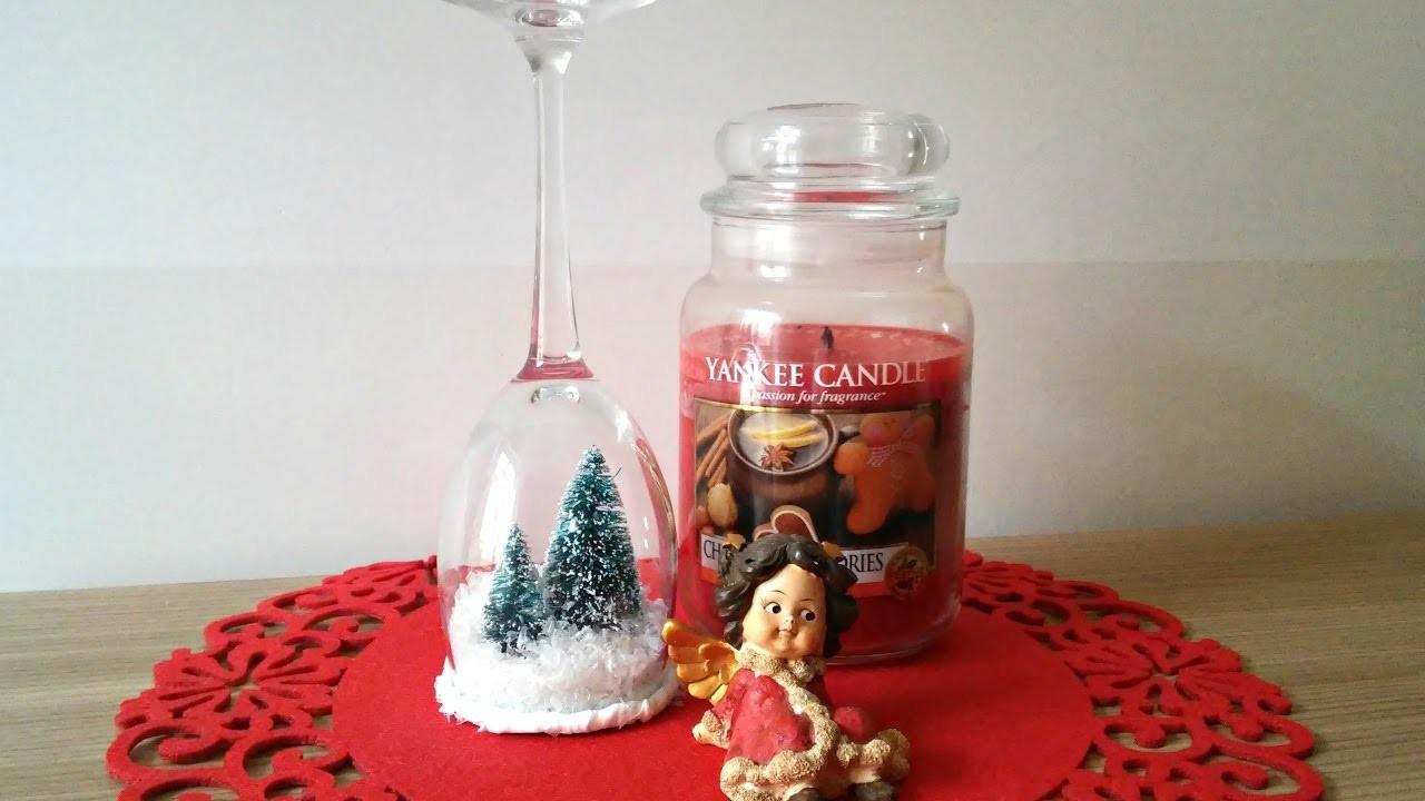 Natale in un bicchiere! DIY PORTACANDELE con estrazione!