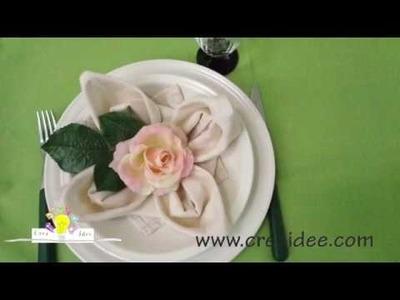 Piegare tovaglioli: fiore di loto - Napkins folding: lotus flower - Tutorial DIY di Creaidee