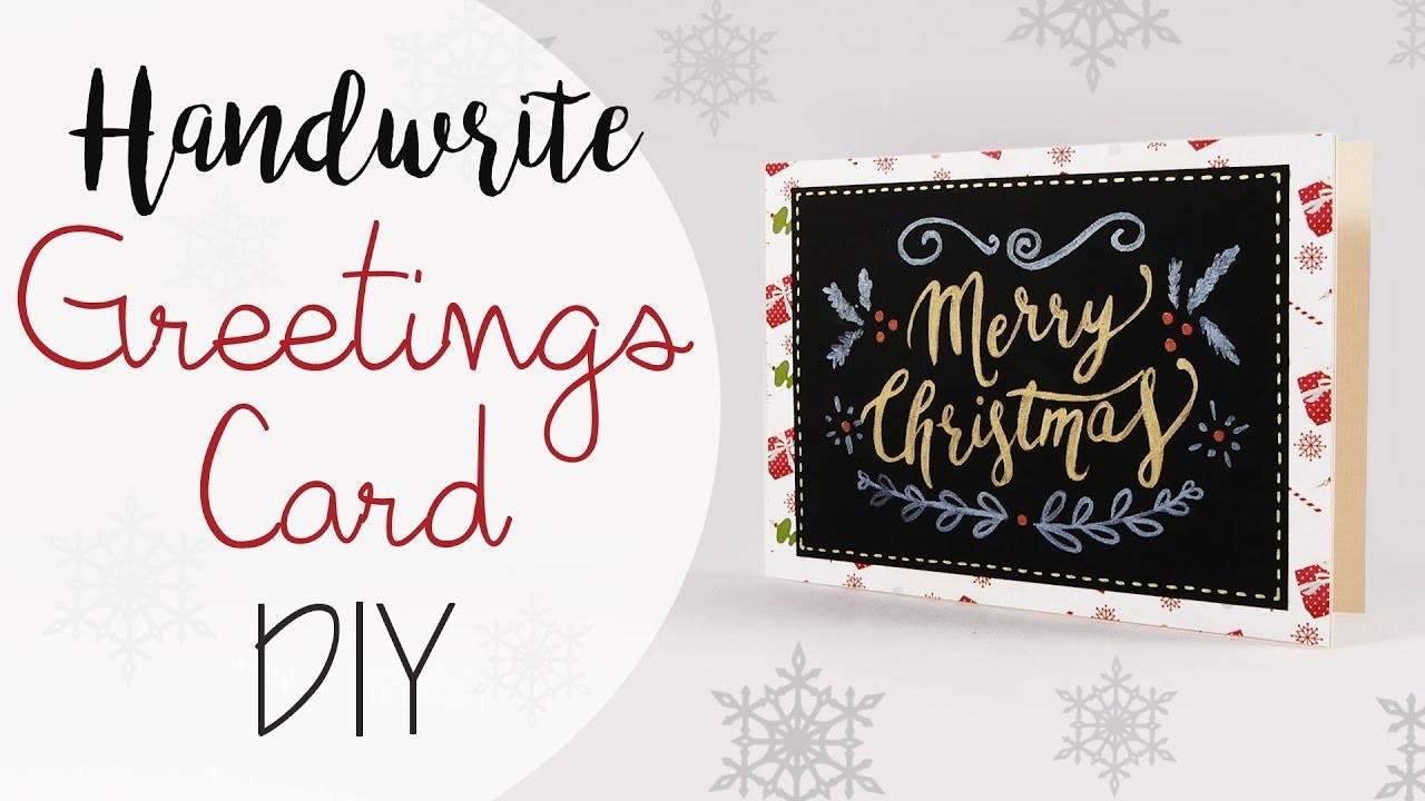 Tuto: Biglietto con scritta a Mano - ENG SUBS Handwrite Greetings Card DIY