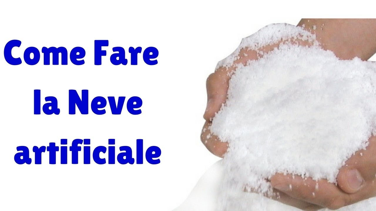 Come Fare la NEVE artificiale-How to make artificial snow(diy-how to)