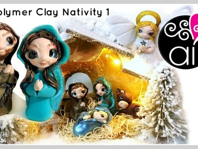 Polymer Clay Nativity Tutorial | DIY Presepe Fimo | Giuseppe e Maria | 1°