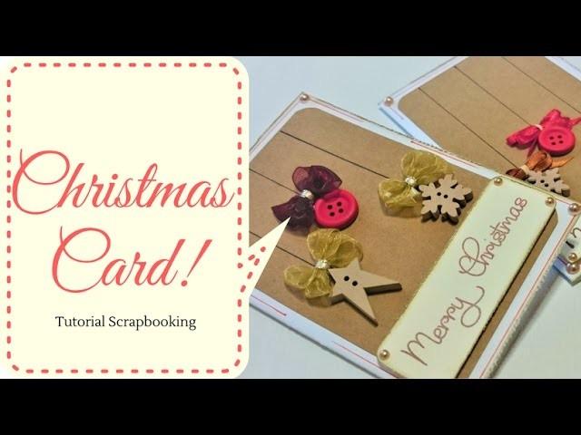 Tutorial ScrapBooking : Mini Card Christmas