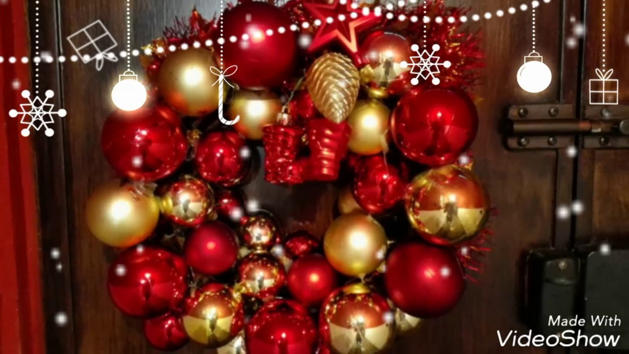 Wreath Christmas ghirlanda natalizia Diy