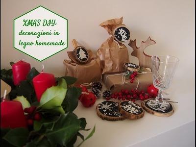 XMAS DIY: decorazioni in legno homemade