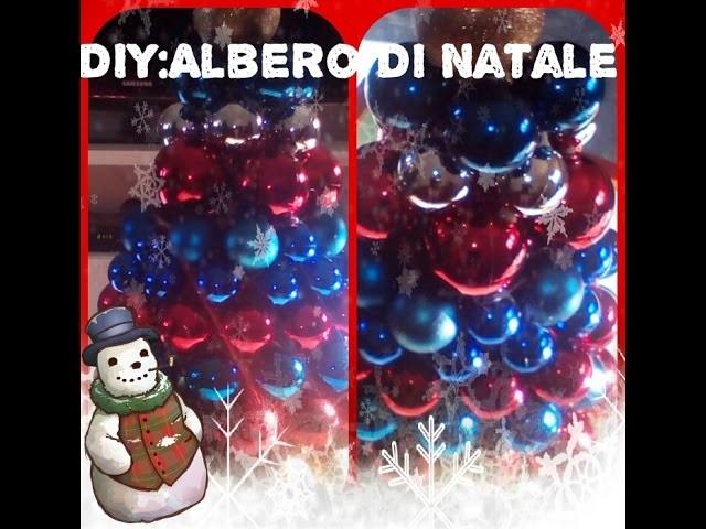 DIY:alberello di Natale con le palline.