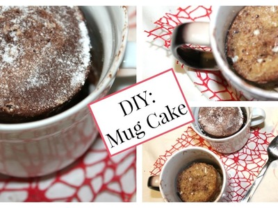 DIY Christmas Mug Cake ♡ || Nutella♡Coffee♡Banana