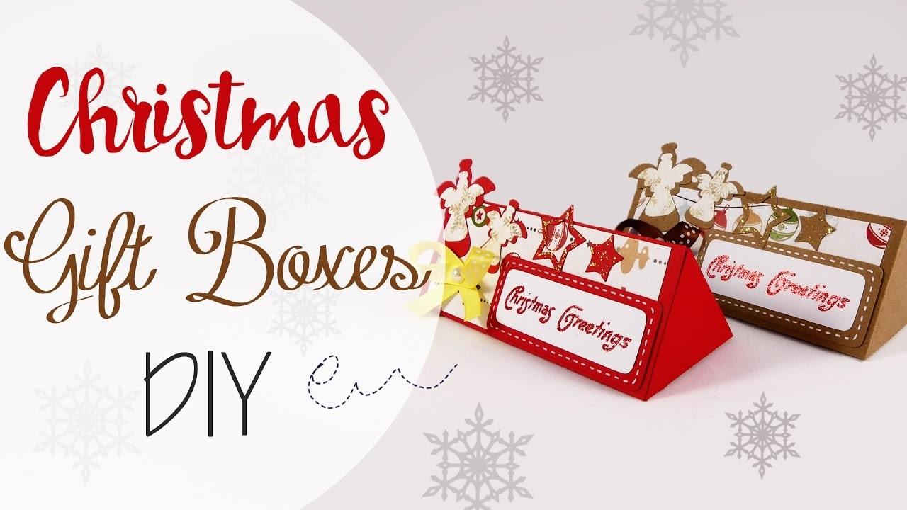 Tuto: Scatole Regalo di Natale - ENG SUBS Christmas Gift Boxes DIY
