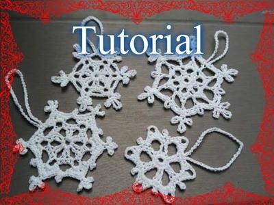 Tutorial 23. * Fiocco di Neve semplicissimo *all' Uncinetto . How to Crochet Christmas star