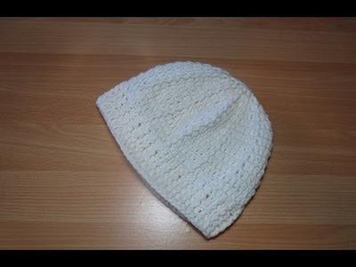 Uncinetto Crochet Berretto PuntoRilievo Bianco