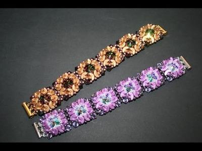 BRACCIALE SOGNO - Rivoli Swarovski - Perline Arcos® par Puca® - Tutorial Perlinebijoux.com