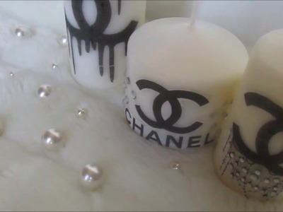 CHANEL CANDLE - DIY ROOM DECOR - Last minute Gift