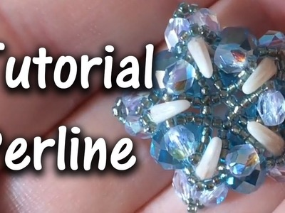 """TUTORIAL Perline modulo """"MiniBlueStar"""", con Crescent Beads e Cristalli"""
