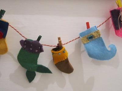 DIY calze della befana a tema principesse disney (Rapunzel.Ariel.Pocahontas.Jasmine.Biancaneve)