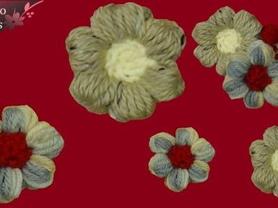 """Fiore all'uncinetto facile : il """" puffiore"""" -  tutorial passo a passo"""