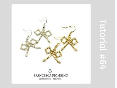 TUTORIAL PERLINE [64] - Fiocco di perline adatto alle principianti. Beads's bow with seedbeads.