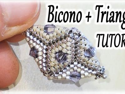 Tutorial perline - Triangoli al Peyote e bicono - Come realizzare una creazione tridimensionale