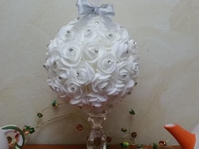 Composizione centrotavola  sfera di rose fai da te